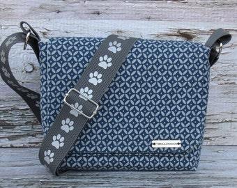 Canvas Dog Walking Bag • Adjustable Dog Training Bag • Gift for Dog Walker • Gift for Dog Mom • Crossbody Bag