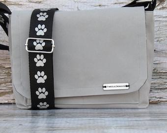 Canvas Dog Walking Bag Waterproof  • Adjustable Dog Training Bag • Gift for Dog Walker • Gift for Dog Mom • Dog Trainer Bag