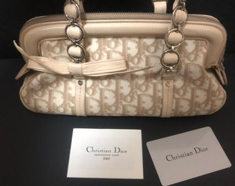 Authentic Christian Dior Bag Lady Dior Cannage Leopard Top   Etsy 36af554a62