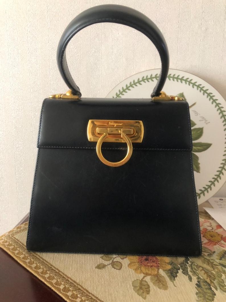 Authentic Salvatore Ferragamo Gancini Bag  754635881ab6a