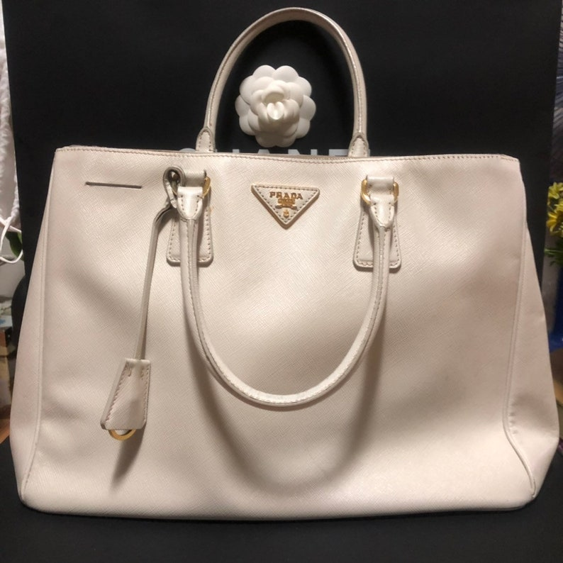 8b35e0cbaf6 Prada Saffiano Top Handle Tote Bag