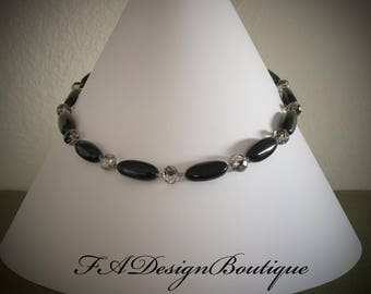 Elegant Black Onyx Necklace! Never out of style!