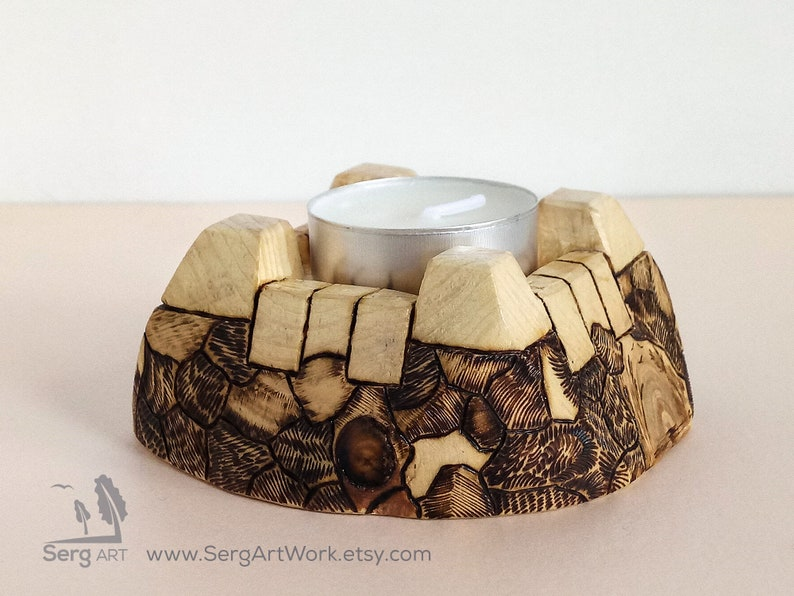 Wooden candle holders Log candle holders Tea light stand Pine candle holder Rustic home decor Holder Wabi Sabi Natural wood item Pyrography