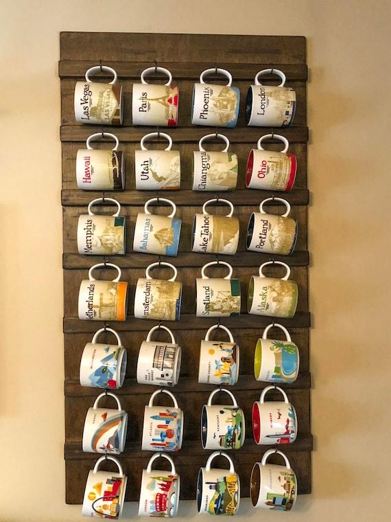 Wall Mounted Coffee Mug Holder Coffee Cup Rack Coffee Etsy