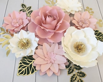 Pink Paper Flowers Etsy