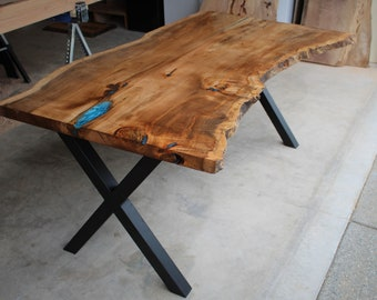 Charmant Live Edge Table / Office Desk / Slab Table / Live Edge Wood / Desk / Custom  / Epoxy Table / Live Edge Furniture / Natural Edge