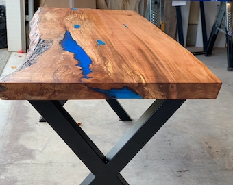 Office Desk   Live Edge Desk   Slab Table   Live Edge   Epoxy   Resin    Custom   Table 69ca29701