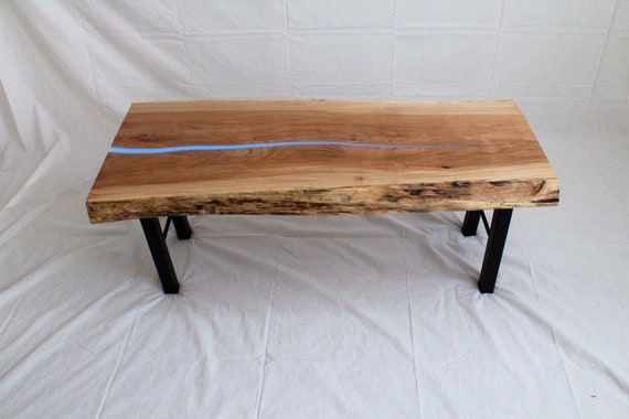 Epoxy Table Coffee Table Resin Table Live Edge Wood Coffee Table Slab Coffee Table Handcrafted
