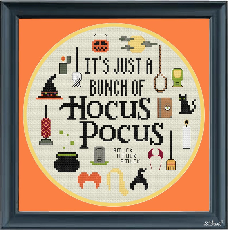It's just a bunch of Hocus Pocus circle cross stitch image 0