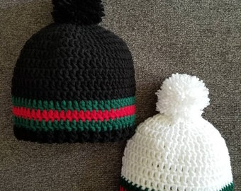1157f0672 Gucci Inspired Crochet Adult Hat