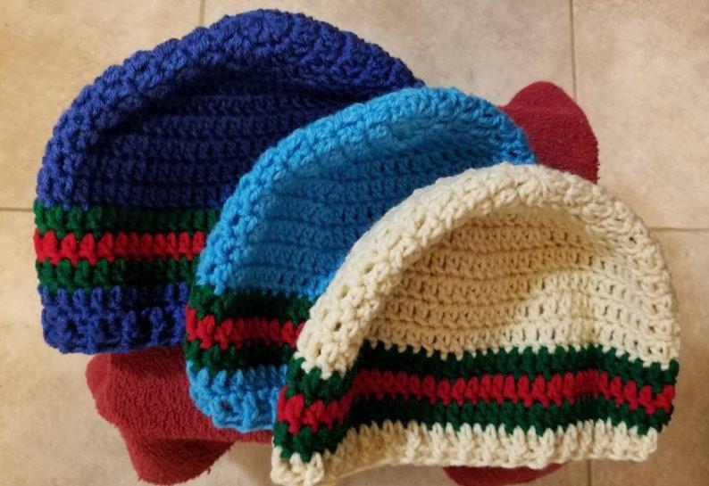 b67163f0d93 Gucci Inspired Beanie Crocheted Hat Teen Adult