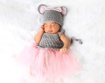 mouse costume for baby newborn mouse costume for girl first halloween costume for girl newborn photo outfit mouse outfit