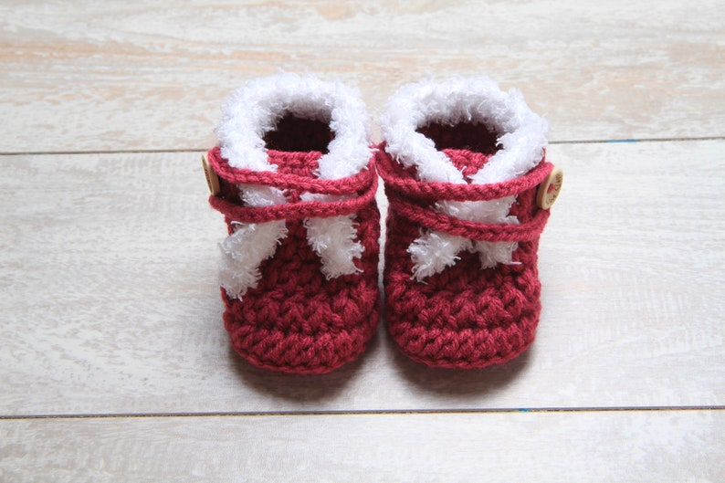 Newborn Faux Fur Boots Baby Girl Crochet Booties Baby Girl Etsy