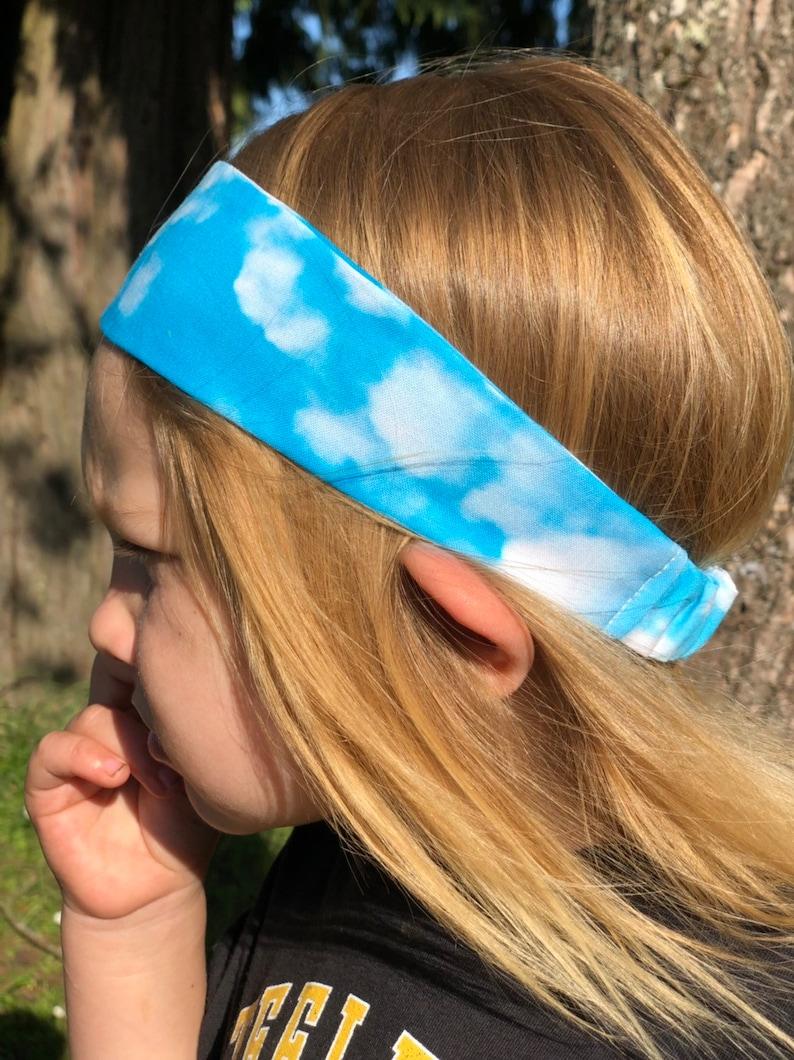 Fluffy Cloud Headband  Boy Headband  Blue Sky  Graduation Gift  Birthday Gift  Boy Hair Accessory
