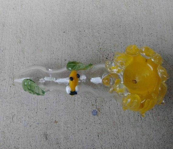 Abeille Fleur Tabac Pipe Fleur En Forme De Verre Fumer Pipes Etsy