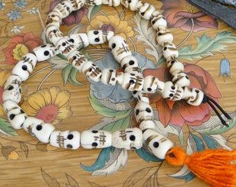 Skull Bead Mala Bracelets