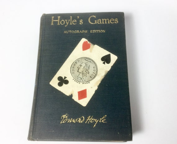 Vintage Game Book Hoyles Games Autograph Edition 1935 Hardcover Game Rules Card Games Billiards Dominos Games Gift For Game Lover