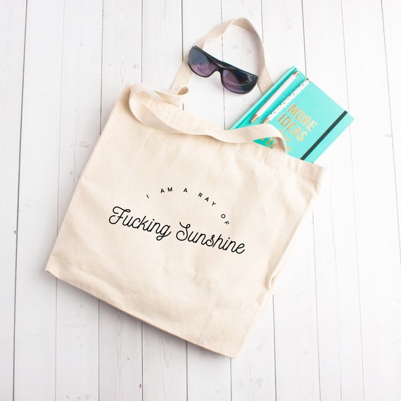 I/'m a ray of f/'ing sunshine canvas tote bag,