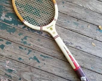 Vintage Magnan Wooden Tennis Racket Aristocrat Model