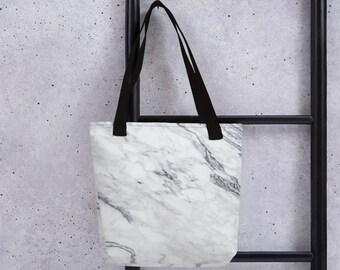 9552ae7b18fd Gray Marble Tote Bag