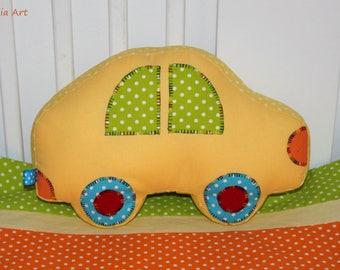 Car pillow, fabric car