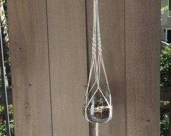 macrame plant hanger, home decor, bohemian, boho, modern, cotton, rope, knots