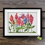 Vagina cross stitch pattern PDF, Vulva embroidery patterns, Vagina flowers garden, Lesbian couple gift, Feminist Xstitch DIY Needlepoint