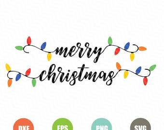 christmas lights svgstring of christmas lights svgchristmas lights clipart christmas vector svg files silhouette vinyl cricut