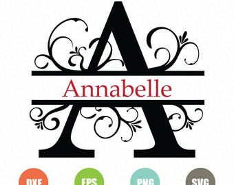 Full Alphabet SVG, Split Alphabet Svg, Split Monogram Font, Monogram Svg, Split letters, Wedding Font, Calligraphy Font,  Regal Font Svg