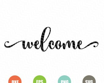 Welcome Svg, Files for Quotes, Svg Cutting Files, Cricut Designs, Svg Cutting Files for Silhouette, Cuttable Files, Instant Download