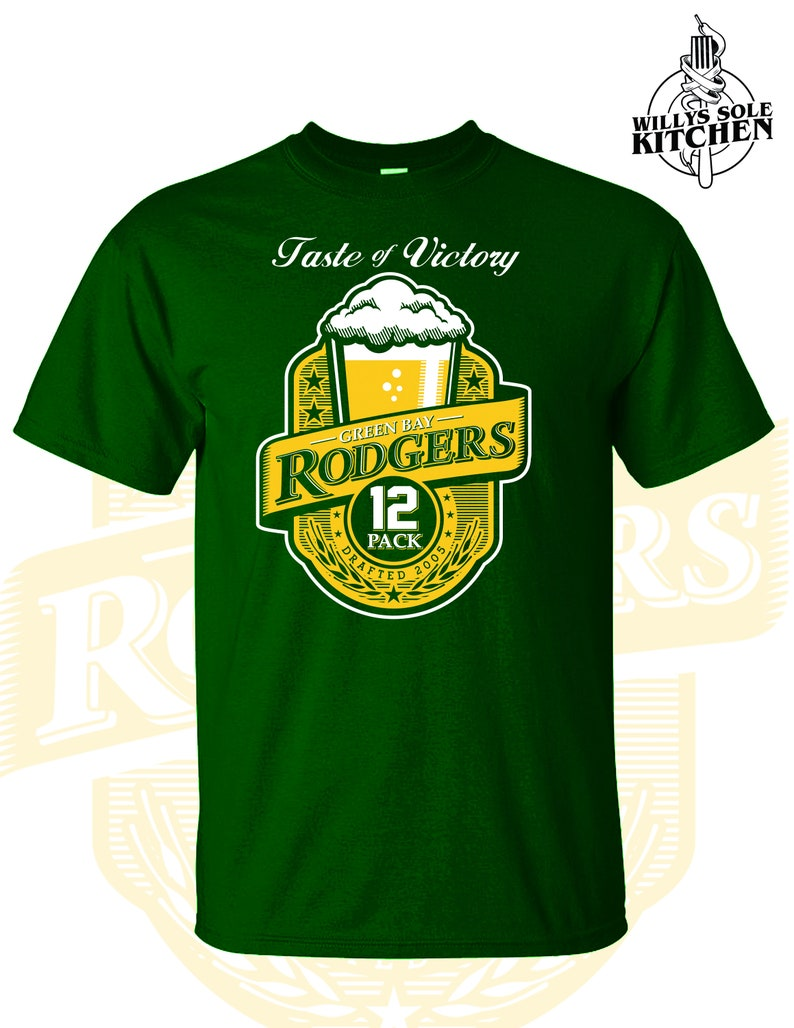 252adf62a Taste Of Victory Aaron Rodgers shirt Green Bay Packers Green
