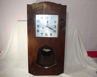 Beautiful Vintage French Art Deco Wall Clock  Circa 1930u0027s  Runs!