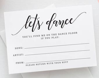 Printable Song Request Card