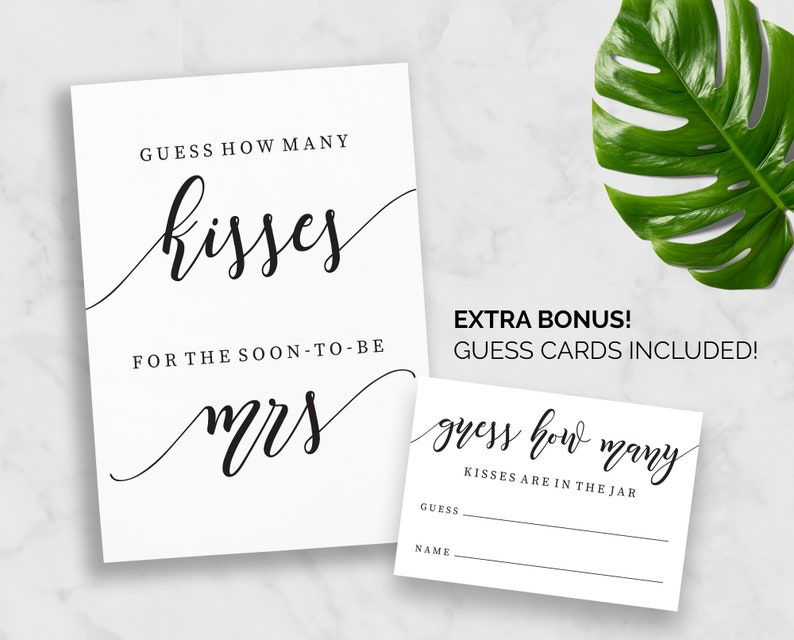 photograph relating to Guess How Many Kisses for the Soon to Be Mrs Free Printable named How Quite a few Kisses for the before long in direction of be mrs Printable Wager How a lot of Kisses Playing cards Signal Bridal Shower Hens Bachelorette Fast Obtain