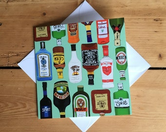Famous Drinks Greeting Card