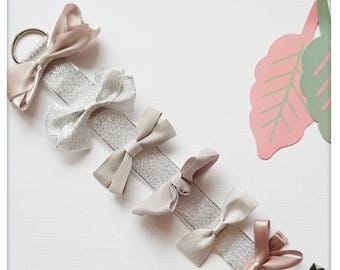 Bow Barrettes for girls and baby girl, chic hair clips, cute, hair bow clip for girls, kids hair accessories