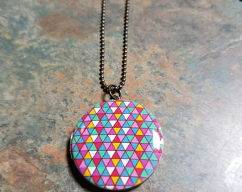 Antique Gold Colorful locket Necklace Fun