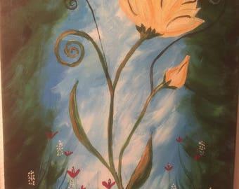 Whimsical Flower 16x20