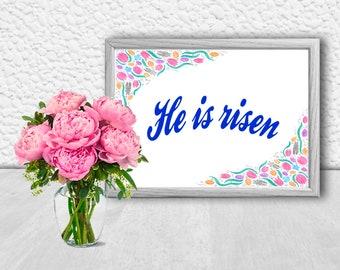 Happy Easter Card Wall Art Bunny Funny Rabbit Cute Animals Etsy