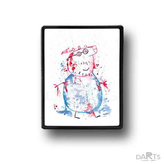 Peppa Pig Printable Wall Art Nursery Decor Peppa Pig Poster Watercolor Printable Instant Download Christmas Decor Peppa Pig Birthday