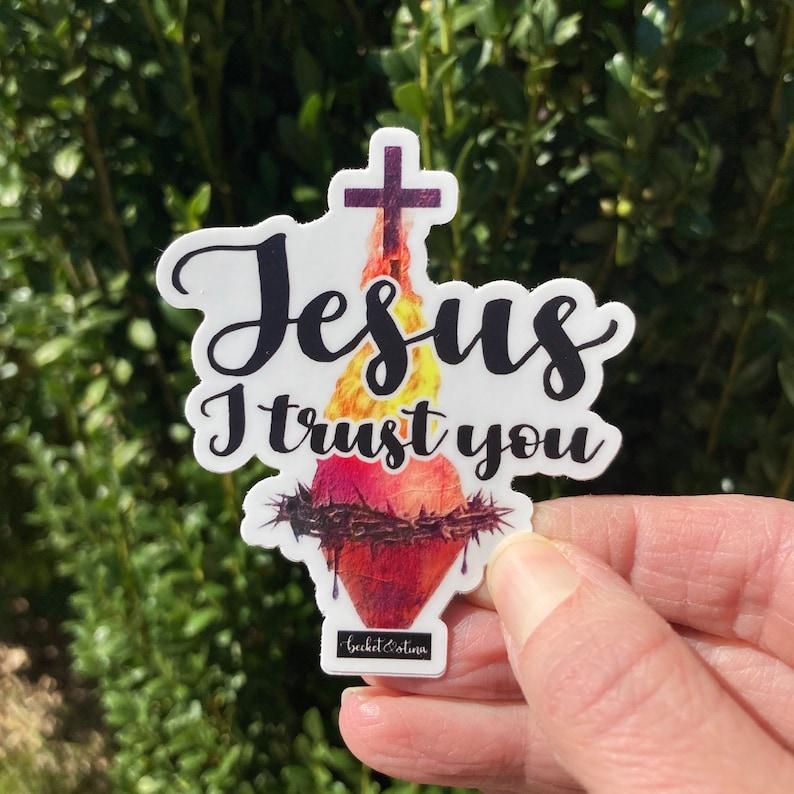 Catholic Sticker Bundles  Be Not Afraid  Jesus I Trust You image 0