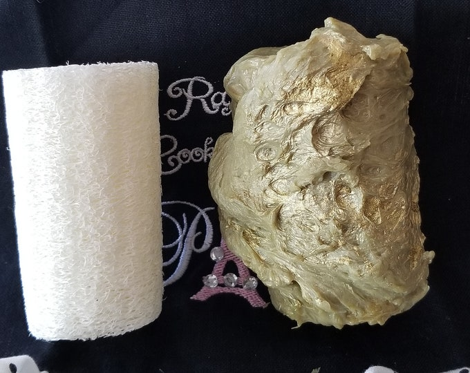 Gilded Goat Handcrafted Avacado, Aloe & Cucumber, Loofah Log Soap -  Made To Order