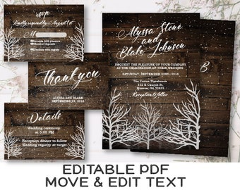 Winter Wedding Invitation Template