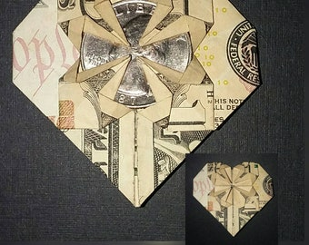 Free: Dollar bill origami heart with quarter in middle - Other ... | 270x340