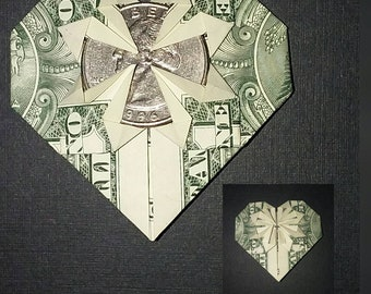 Maker Project: Origami Dollar Bill Heart - Joshua Paulus - Medium | 270x340