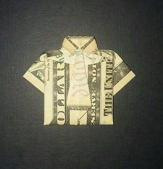 Money Origami Shirt and Tie Folding Instructions | 593x570