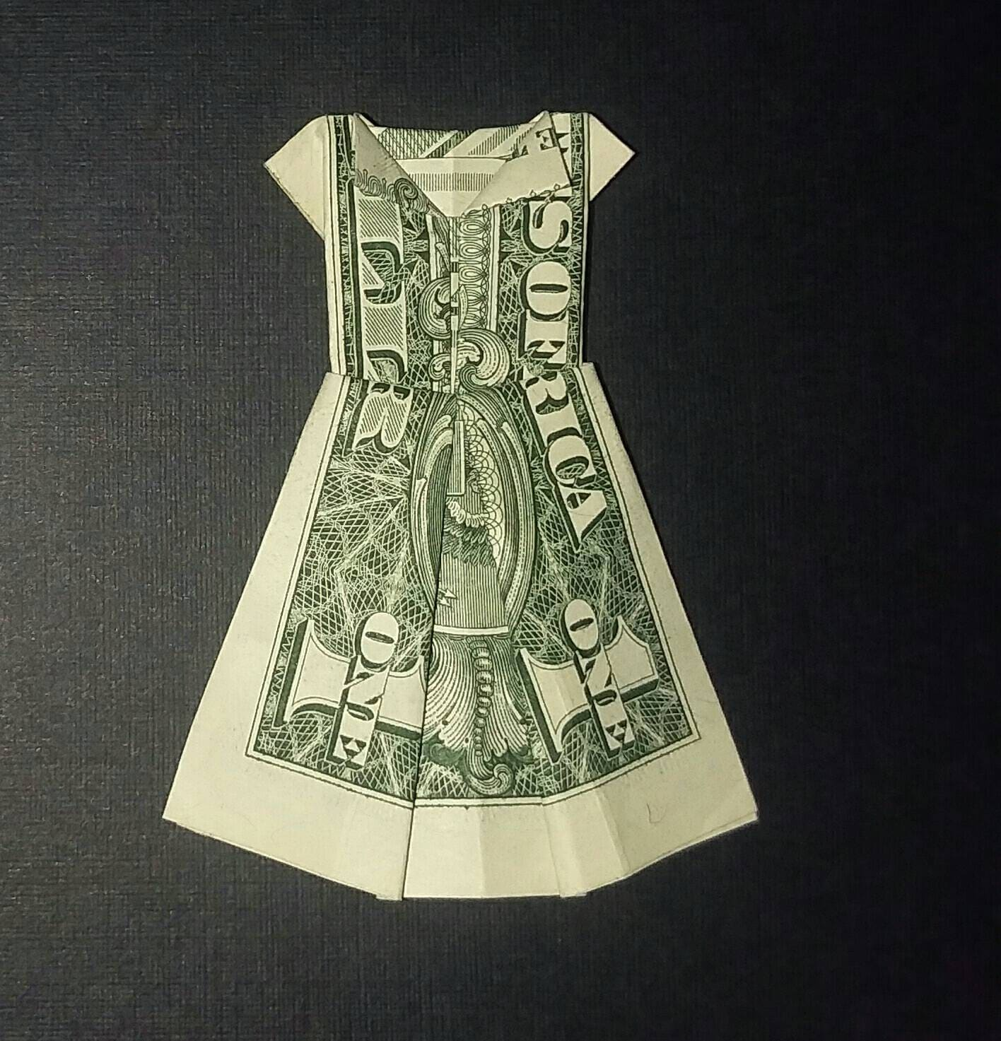 Money Origami Dress - Folding Instructions with Photos & Video | 1473x1416
