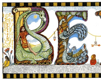 BETH - Whimsical print of the name BETH