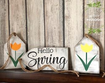 Spring Tag Sign Set