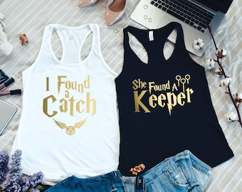 Bachelorette Party Shirts, She Found A Keeper Set of Wizard Themed, I Found A Catch Shirts, Bachelorette Tanks, Bachelorette Party